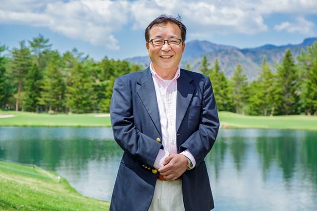 鳴沢ゴルフ倶楽部の統括グリーンキーパー、渡辺文洋さん。今年はプロツアー開催も決まり、より一層のコース整備に余念がないとのこと。