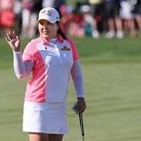 6度目のメジャー制覇を達成し世界ランク1位に返り咲いた朴仁妃*撮影「KPMG女子PGA選手権」3日目 2015年 KPMG女子PGA選手権 3日目 朴仁妃