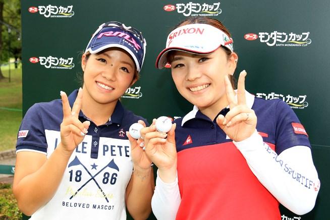 大江香織(写真左)と土田沙弥香は4番で達