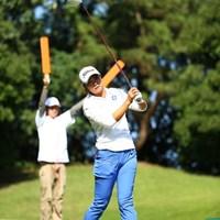 飛行機の誘導じゃないんだからさ。 2015年 日本女子オープンゴルフ選手権競技 2日目 三塚優子
