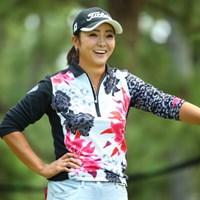 にゃははーん。このウェアいいでしょー。 2015年 日本女子オープンゴルフ選手権競技 3日目 三塚優子