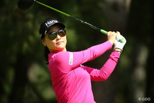 ギャラリーの方が、そのサングラス怖いと申しておりました。 2015年 日本女子オープンゴルフ選手権競技 3日目 ユ・ソヨン