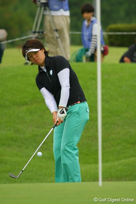 最終ホールはボギーとしたが、それでも「68」の好スコアで4位タイへと浮上した古田裕美子 2009年 日医工カップ 最終日 古田裕美子
