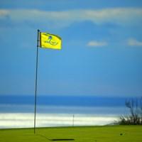 やっぱ黒潮カントリーは雰囲気いいね 2015年 カシオワールドオープンゴルフトーナメント 初日 ピンフラッグ