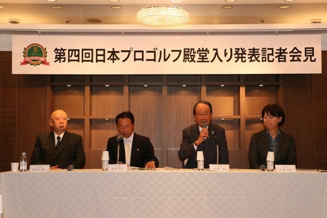 松井功・日本プロゴルフ殿堂理事長から3人