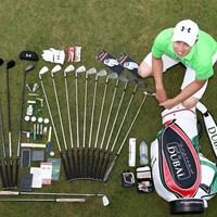 プロゴルファーのバッグの中身は?開けてみれば、実に多くの物が入っている(European Tour) 2016年 オメガドバイデザートクラシック 事前 マシュー・フィッツパトリック