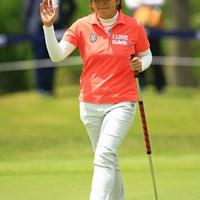 福嶋浩子は「雲の上の存在」と語る姉・晃子と最近、ゴルフ談義を重ねる 2016年 サイバーエージェント レディスゴルフトーナメント 初日 福嶋浩子