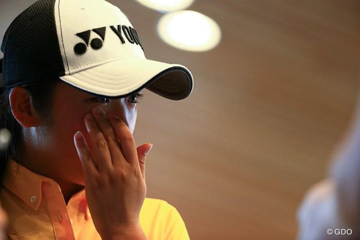 今日は泣くほど悔しかったらしい。この悔しさがなくてはプロにはなれないのだろう。 2016年 トヨタジュニアゴルフワールドカップ Supported by JAL 2日目 稲見萌寧