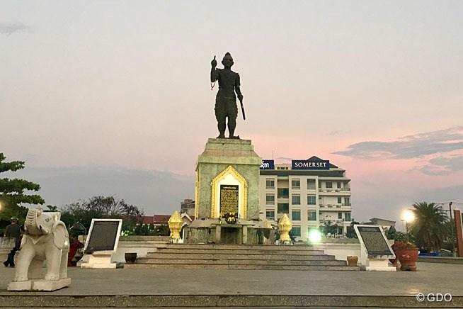 ラオスの首都ビエンチャン。想像していたよ