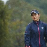 この雨の中、ここまでクールな表情をできるのは彼女しかいない。 2017年 ヤマハレディースオープン葛城 2日目 藤田光里