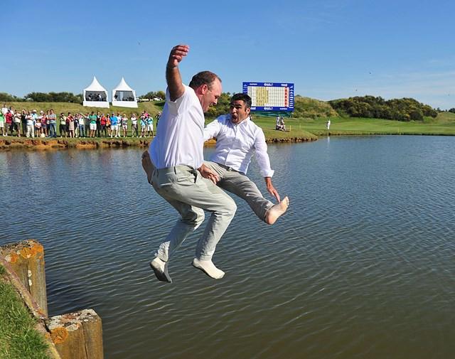 レベは池ダイブで臑を骨折した(2011年「アルストム・オープン・ド・フランス」/Stuart FranklinGetty Images)