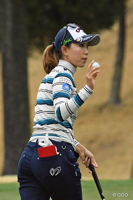今季初めて60台で滑り出した上田桃子。調子を上げて次週・熊本大会に乗り込みたい 2017年 スタジオアリス女子オープン 初日 上田桃子