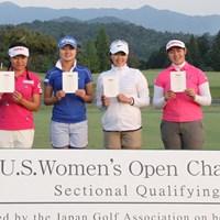 サイ・ペイイン、森田遥、葭葉ルミ、川岸史果の4選手が本戦出場権を獲得した(提供:日本ゴルフ協会) 2017年 全米女子オープン 事前 全米女子最終予選