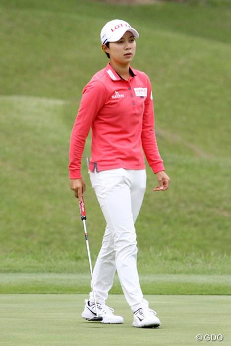 大会初出場のキム・ヒョージュ。狙うはもちろんホステス優勝だ 2017年 ヨネックスレディスゴルフトーナメント 事前 キム・ヒョージュ