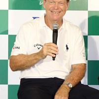会見の席上で松山英樹について言及したトム・ワトソン。メジャー初優勝が近いことを強調した トム・ワトソン