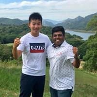 スリランカへやってきた!アジアンツアーでできたプロ仲間、ペレラ選手がナビゲーターです 2017年 クイーンズカップ 事前 川村昌弘 ミスン・ペレラ