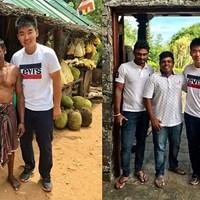 スリランカで出会った人々。一番左は果物屋さんです 川村昌弘