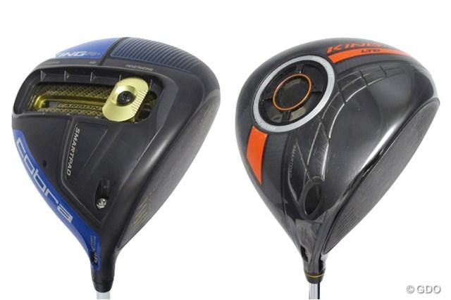 コブラのクラブはオシャレな色使いが魅力。左が「KING F6+ ドライバー」、右が「KING LTD ドライバー」