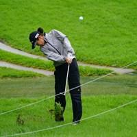 夏ラフが雨で濡れて手強そうだ。 2017年 ゴルフ5レディス プロゴルフトーナメント 初日 松森彩夏