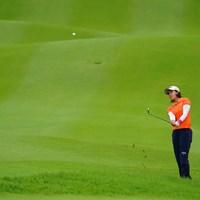 曇り空だったけれどオレンジが鮮やかでいいね。 2017年 ゴルフ5レディス プロゴルフトーナメント 初日 藤田光里