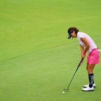 よく見るとボールがキャリーしてるよ。 2017年 ゴルフ5レディス プロゴルフトーナメント 2日目 藤田光里