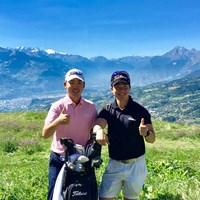 ここが僕の原点。今週はアルプス山脈を望むスイスにやってきました 2017年 オメガ・ヨーロピアン・マスターズ 事前 川村昌弘