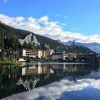 スイスのクラン・モンタナの街並みです。きれいな写真がカンタンに?撮れちゃう 2017年 オメガ・ヨーロピアン・マスターズ 事前 クラン・モンタナ
