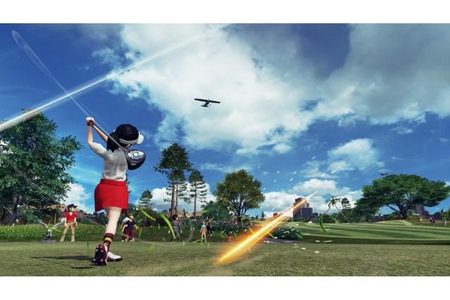 テレビゲームでゴルフが上手くなる!? ※「New みんなのGOLF」プレー画面より