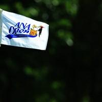 輪厚の風は難しそう。 2017年 ANAオープンゴルフトーナメント 2日目 ピンフラッグ