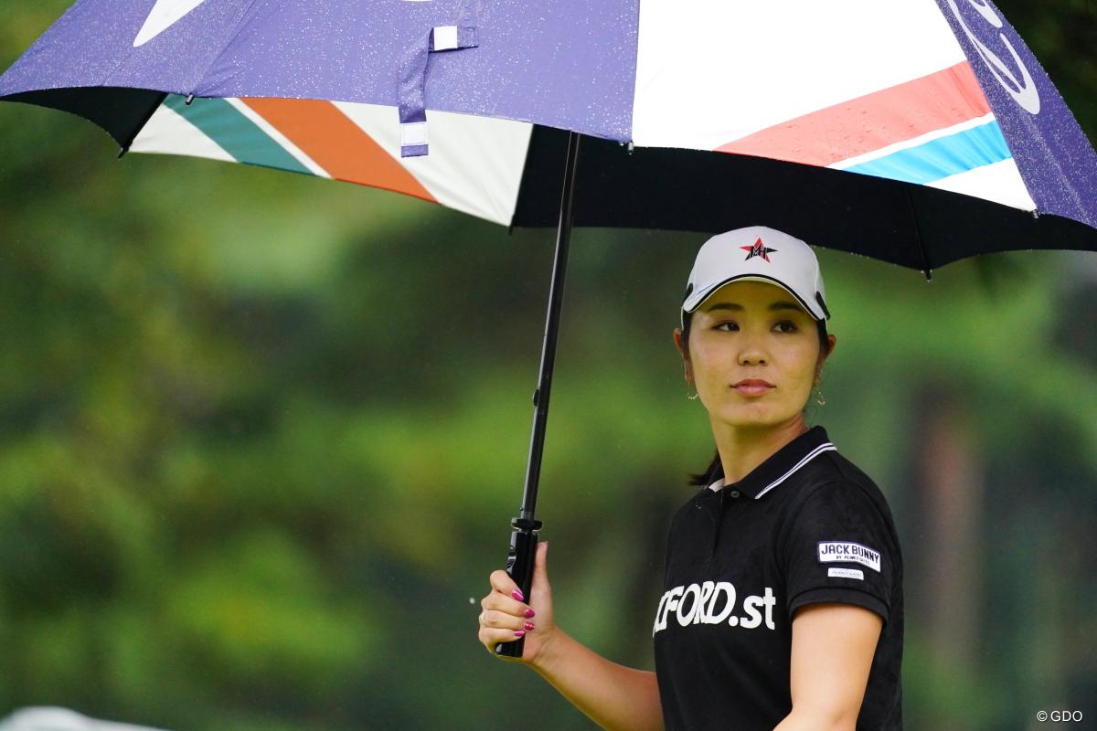 なんか顔がケロっとしてる。 2017年 日本女子オープンゴルフ選手権競技