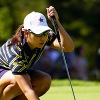 どこのキャップだろ? 2017年 日本女子オープンゴルフ選手権競技 2日目 比嘉真美子