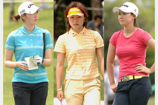 夏を先撮り!飯島茜(左)、藤田幸希(中)