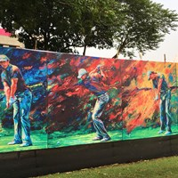 インド人は絵も上手!コースにはなぜかロリー・マキロイのイラストが…(試合には出てません) 2017年 マクラウド・ラッセル ツアー選手権 ロイヤルカルカッタGC