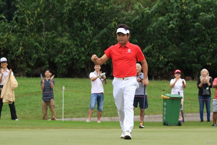 チームアジアでただ1人全勝の3ポイントを稼いだ池田勇太 2018年 ユーラシアカップ 最終日 池田勇太