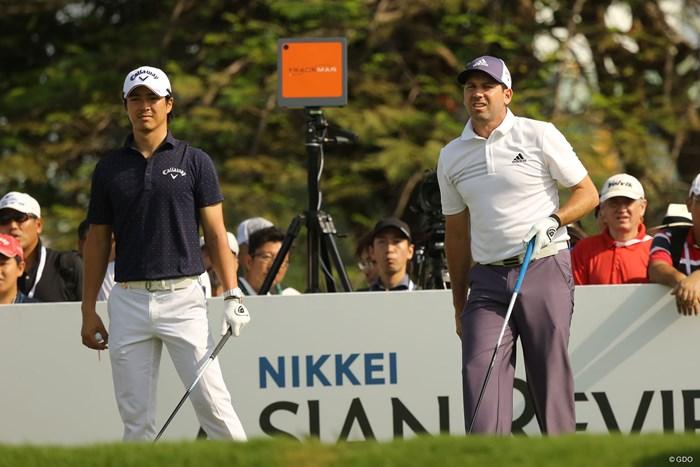 石川遼はセルヒオ・ガルシアと同組でプレー 2018年 SMBCシンガポールオープン 初日 石川遼