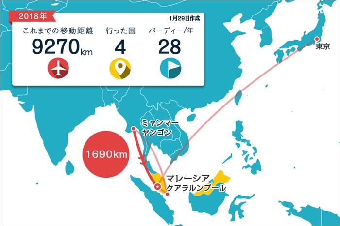 アジアでのプレーが続きます 2018年 メイバンク選手権 川村昌弘マップ