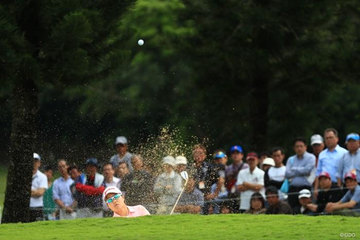 18番3打目はバンカーから 2018年 ダイキンオーキッドレディスゴルフトーナメント 最終日 畑岡奈紗