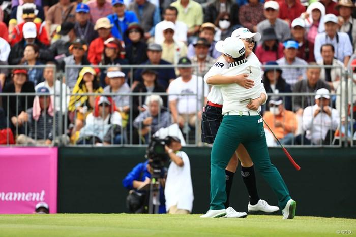 ユン・チェヨンは2位で申ジエとすごい喜びよう 2018年 ダイキンオーキッドレディスゴルフトーナメント 最終日  ユン・チェヨン 申ジエ