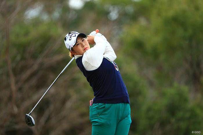 佐伯三貴が首位で滑り出した 2018年 ヨコハマタイヤゴルフトーナメント PRGRレディスカップ 初日 佐伯三貴