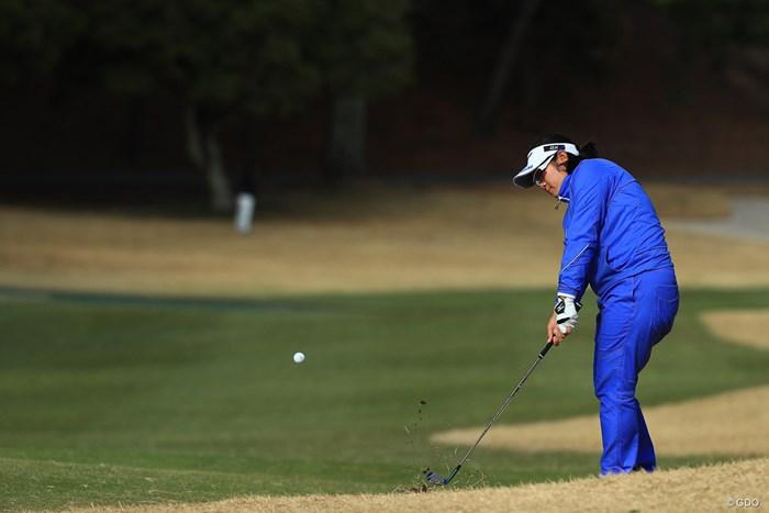 首位で初日を終えるかと思いきや 2018年 ヨコハマタイヤゴルフトーナメント PRGRレディスカップ 初日 川岸史果