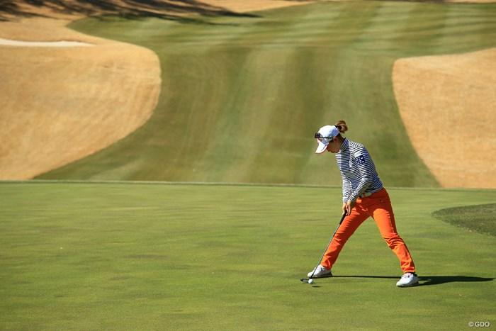 僕は緊張してしまうお先パット 2018年 ヨコハマタイヤゴルフトーナメント PRGRレディスカップ 2日目 上田桃子