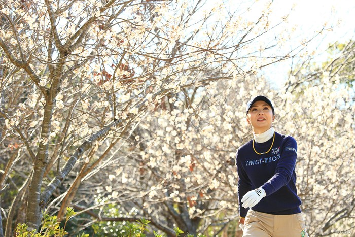 少しスラッとした印象の菊地選手 2018年 ヨコハマタイヤゴルフトーナメント PRGRレディスカップ 2日目 菊地絵理香