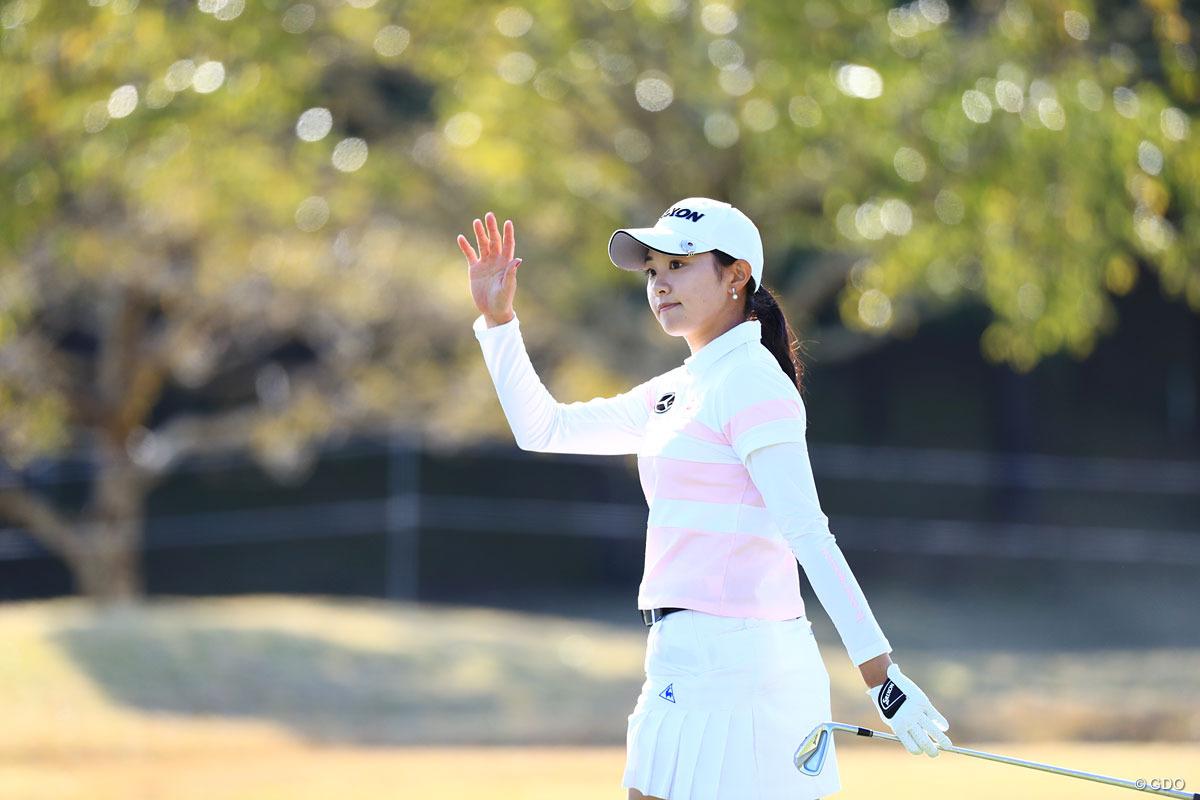 三浦桃香 首位タイで発進した宮崎出身の三浦桃香 2018年 アクサレディスゴルフトーナメント