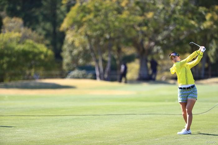 スコアもっと伸びそうだね 2018年 アクサレディスゴルフトーナメント in MIYAZAKI 初日 上田桃子