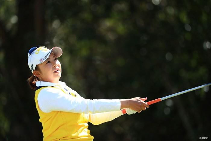 6アンダー1位タイです 2018年 アクサレディスゴルフトーナメント in MIYAZAKI 初日 佐伯三貴