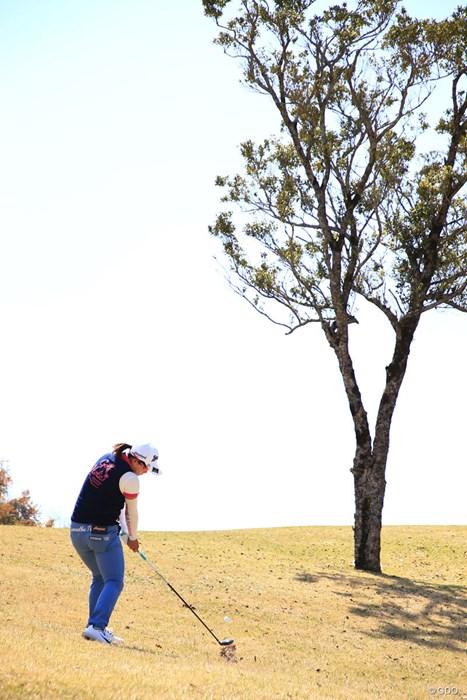 木はよけてね 2018年 アクサレディスゴルフトーナメント in MIYAZAKI 2日目 勝みなみ