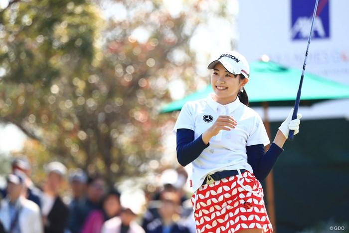 空振りするかと思った一打目 2018年 アクサレディスゴルフトーナメント in MIYAZAKI 最終日 三浦桃香