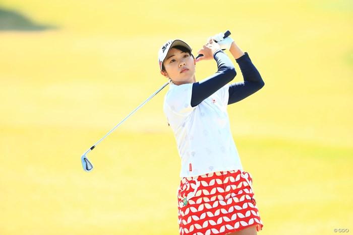 ショットの写真も見せないとね 2018年 アクサレディスゴルフトーナメント in MIYAZAKI 最終日 三浦桃香