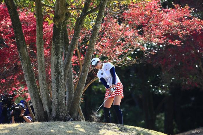 16番もこんなところから 2018年 アクサレディスゴルフトーナメント in MIYAZAKI 最終日 三浦桃香