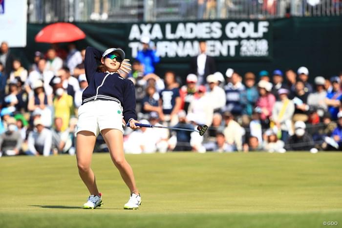 格好良かったので1枚UP 2018年 アクサレディスゴルフトーナメント in MIYAZAKI 最終日 原英莉花